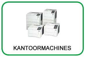 Machines voor op kantoor: printers, faxen, labelprinters, papiersnijders, papiervernietigers etc.