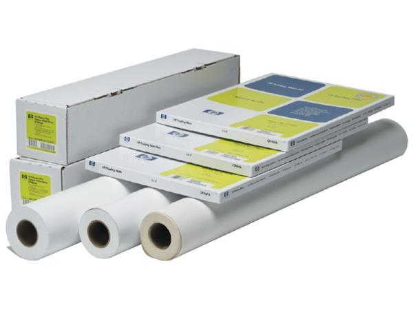 Inktjet plotterpapier HP Q1396A rol 610mmX45.7m 80gr