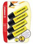 Markeerstift Stabillo Boss geel blister 4x