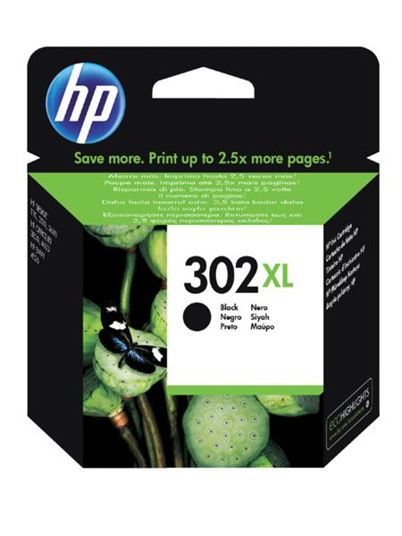 Inktcartridge HP 302XL F6U68AE zwart