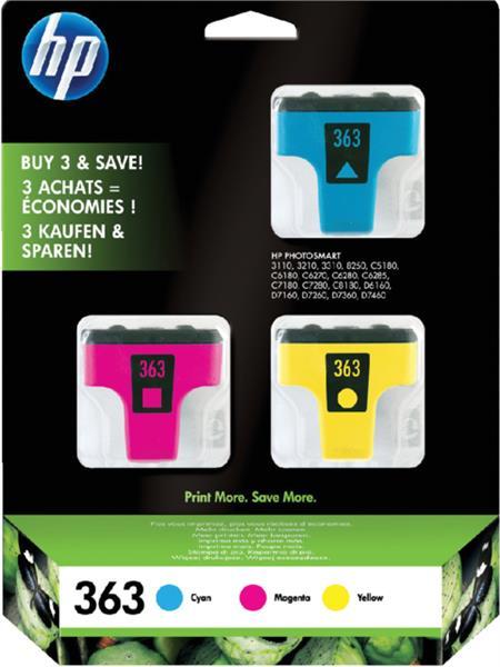 Inktcartridge HP 363 CB333EE 3 kleuren