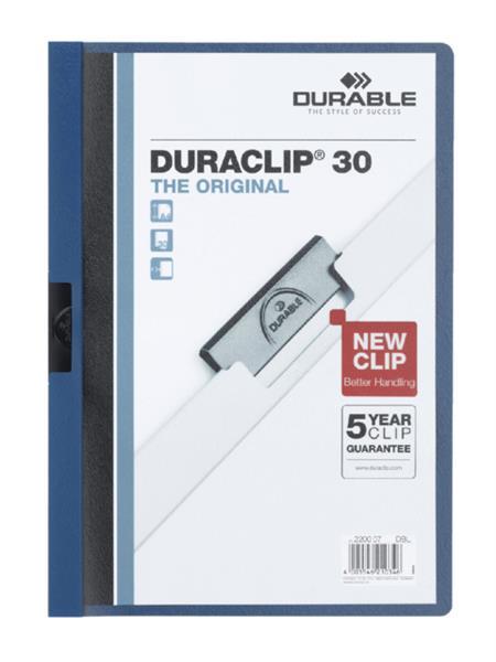 Klemmap Durable 2200 A4 pl/tr 3mm blauw